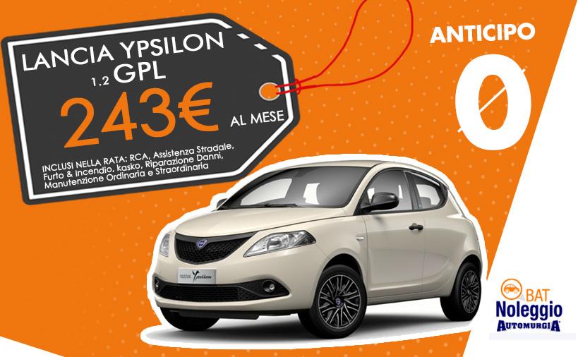 Lancia Ypsilon GPL - Noleggio Lungo Termine