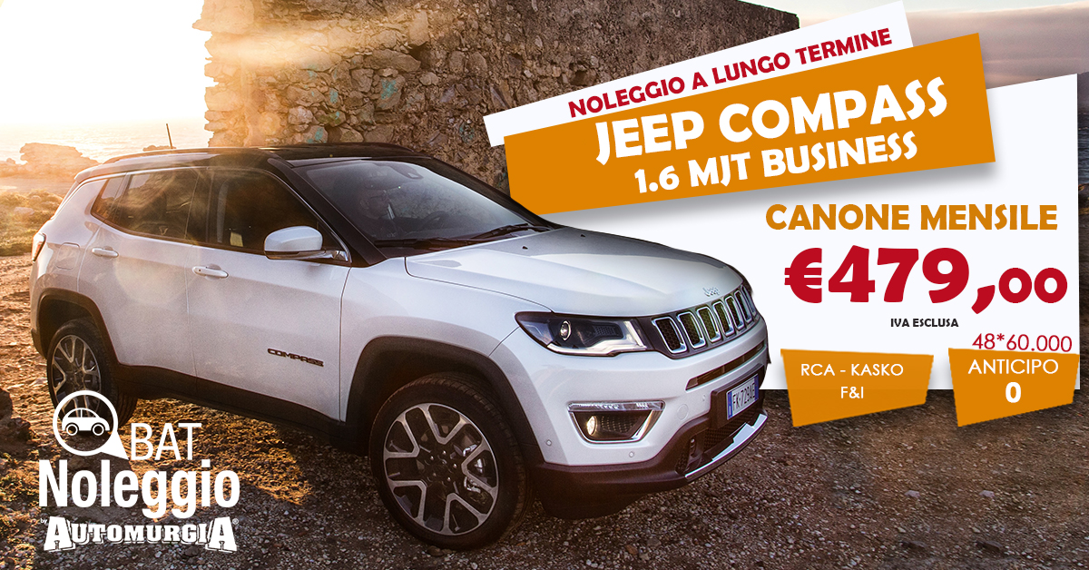 Jeep COMPASS 1.6 mjt Business tua da 479€ al mese