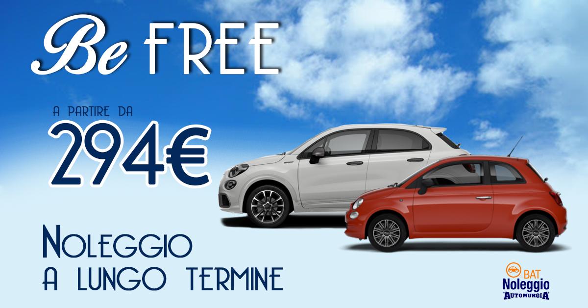 Be Free - Be yourself | Super Promo Noleggio a Lungo Termine